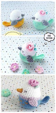 Crochet Spring Bird Amigurumi Free Pattern #crochetamigurumifreepatterns