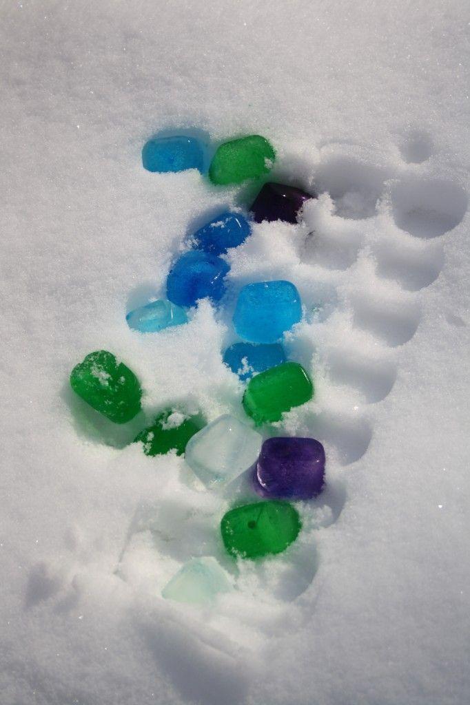 Buscando tesoros en la nieve