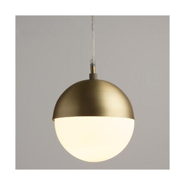 Cost Plus World Market Frosted Glass Globe Hailey Pendant ($70) ❤ Liked On  Polyvore
