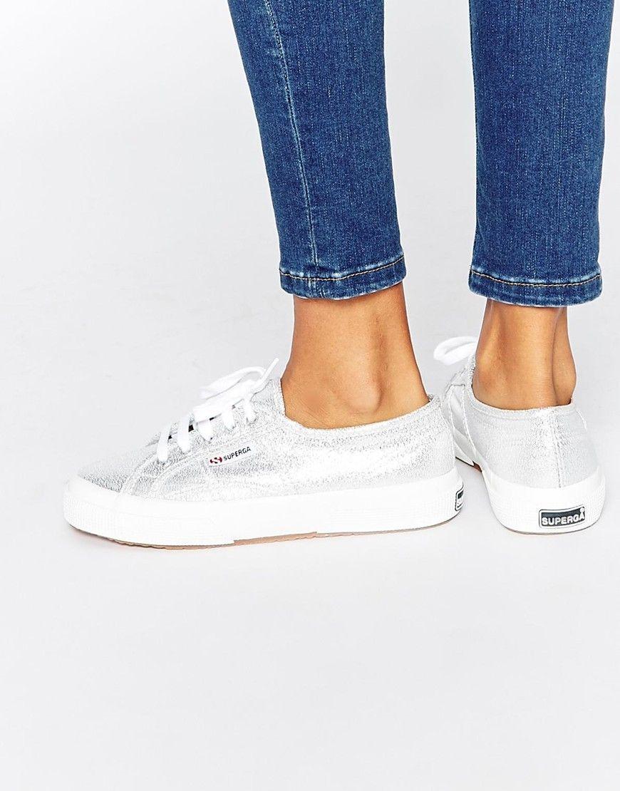 Bild 1 Von Superga 2750 Klassische Silberne Sneakers Kicks