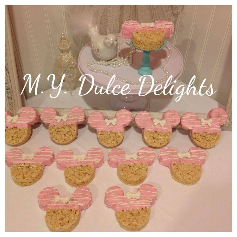 Minnie Mouse Rice Krispie Treats Minnie Mouse Theme