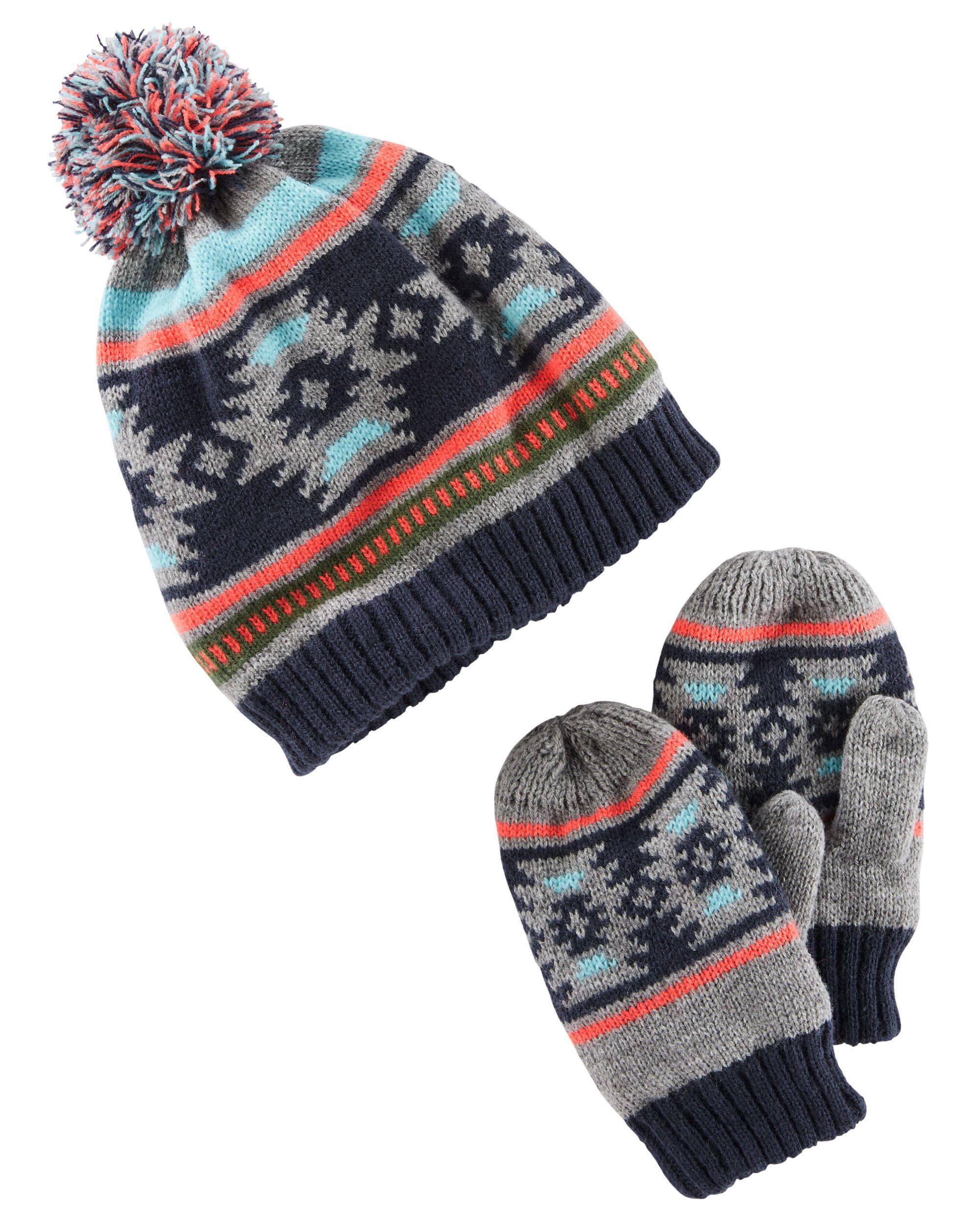 Toddler Boy Hat & Mittens Set | OshKosh.com