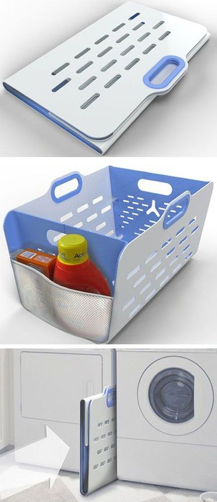 Laundry Basket That Folds Flat For Easy Space Saving Storage With