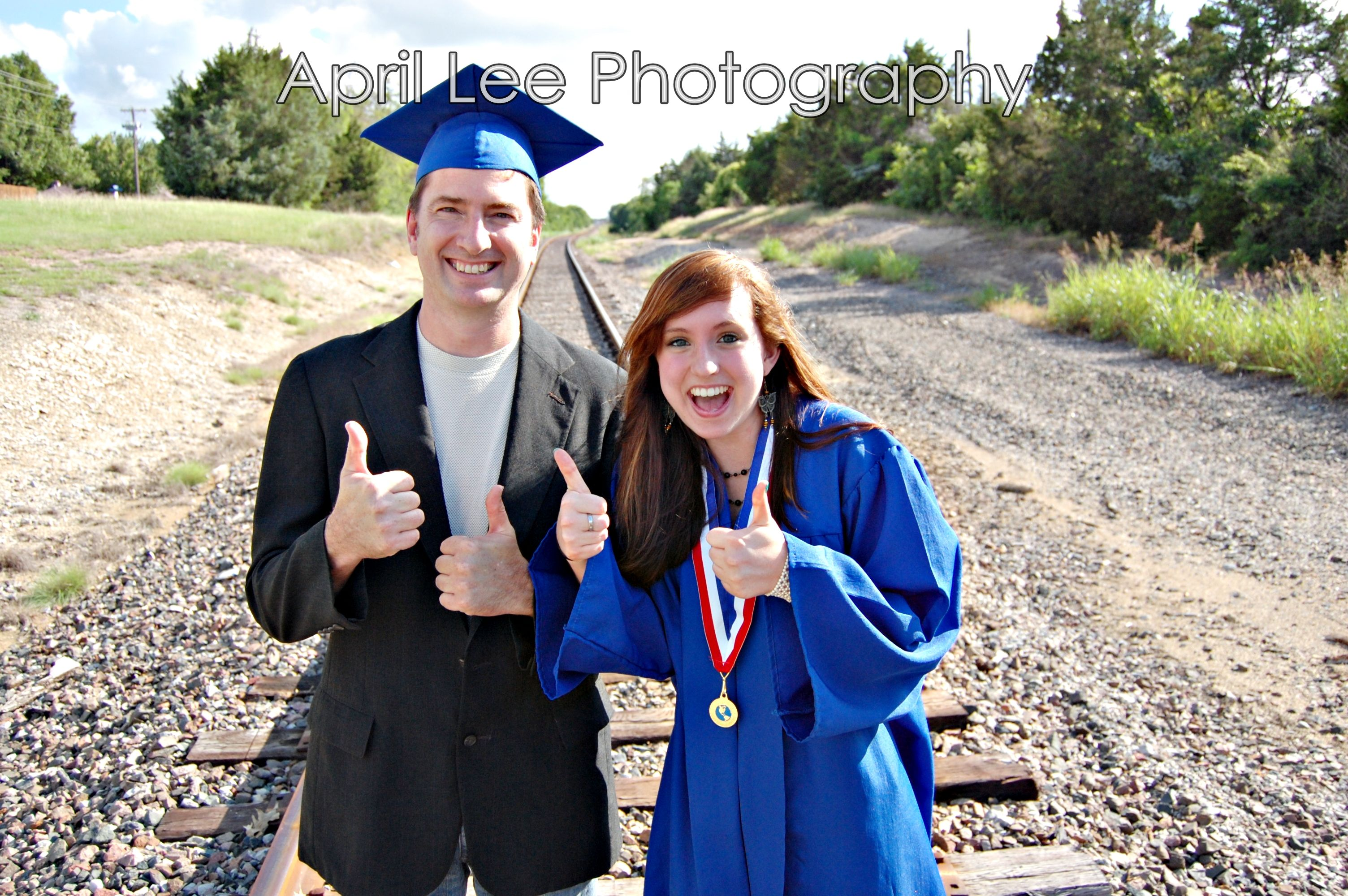 Senior Portrait with Parent April Lee Photography - DFW Photographer  www.Facebook.com/AprilLeePhotography www.AprilLeePhotography.Wordpress.Com