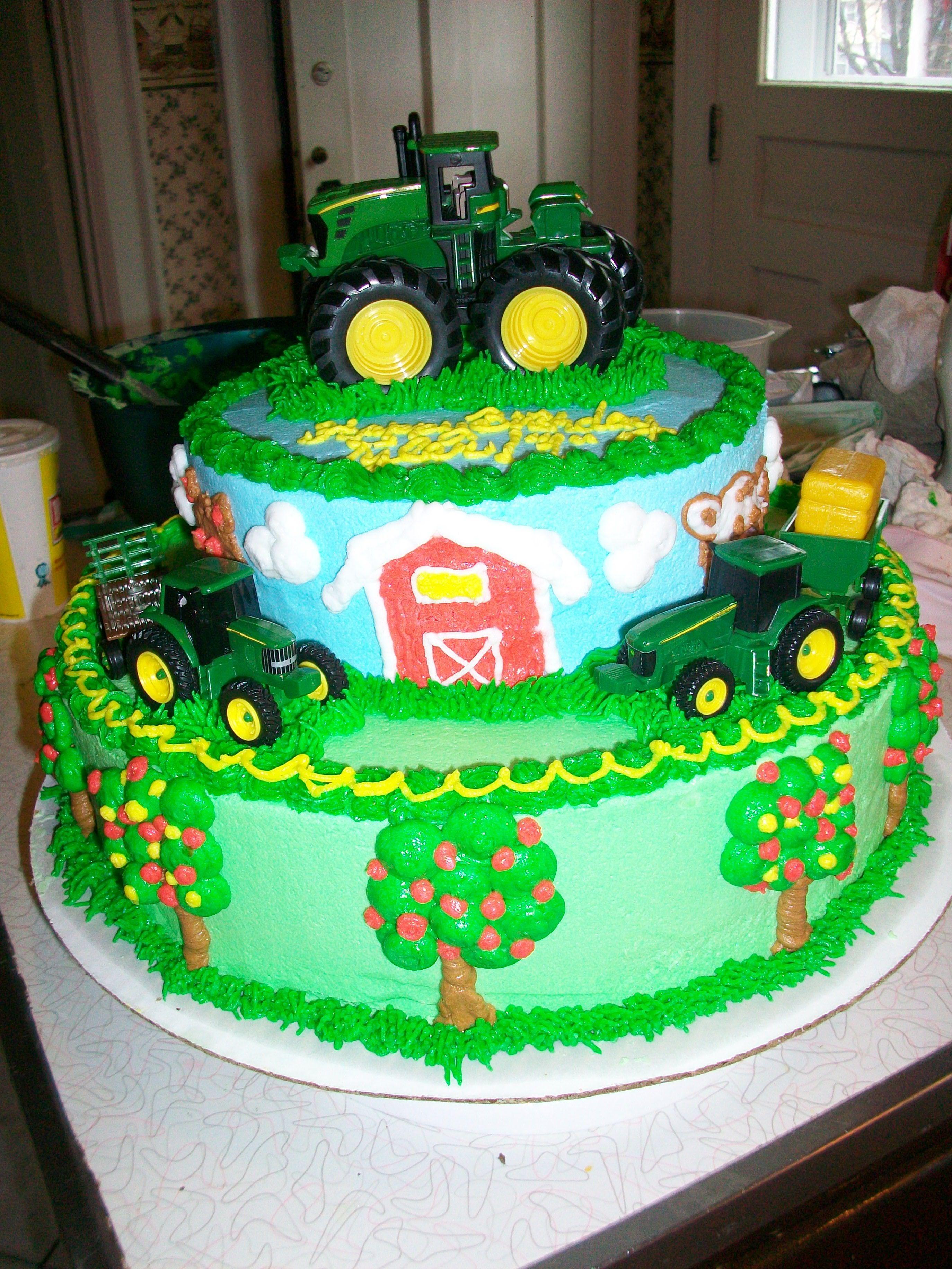 Tyler S John Deere Birthday Cake