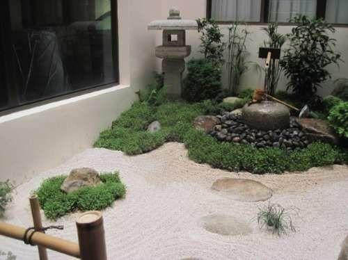 Dise o jardines japoneses dise o de interiores - Jardines con piedras blancas ...