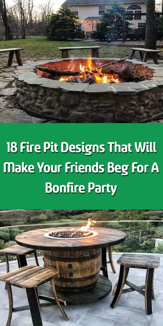 18 Fire Pit Designs That Will Make Your Friends Beg For A ...