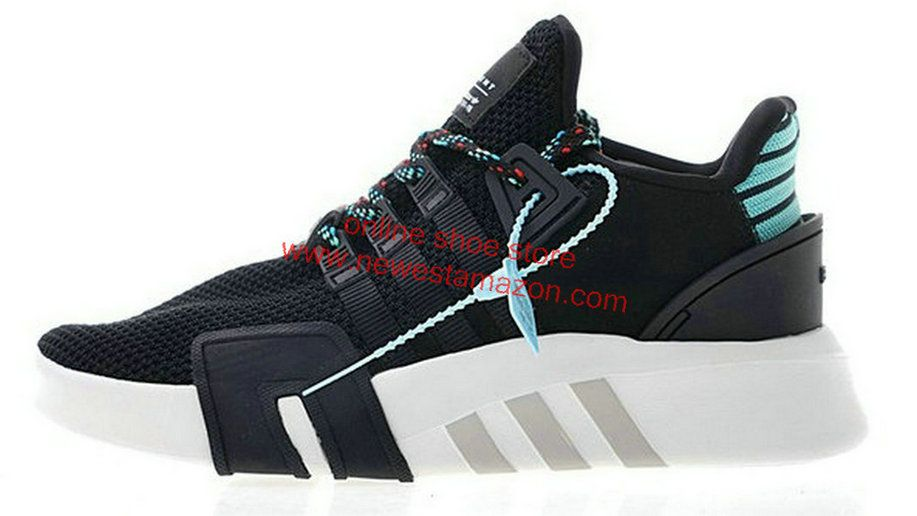 lowest price 13707 2ea27 2018 Authentic Adidas EQT Basketball ADV Black Green White Running Shoe