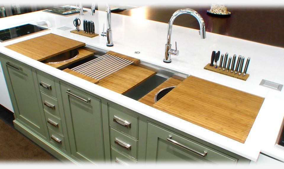 The Galley 7 Workstation Sink With Bamboo Also White Or Black
