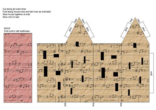 Tutorials/Printables: Music houses untrainedhousewife com