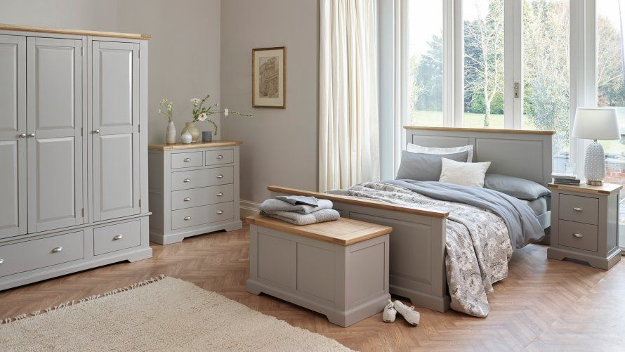St Ives Natural Oak And Light Grey Painted Furniture Grey Painted Furniture Oak Furniture Land Furniture
