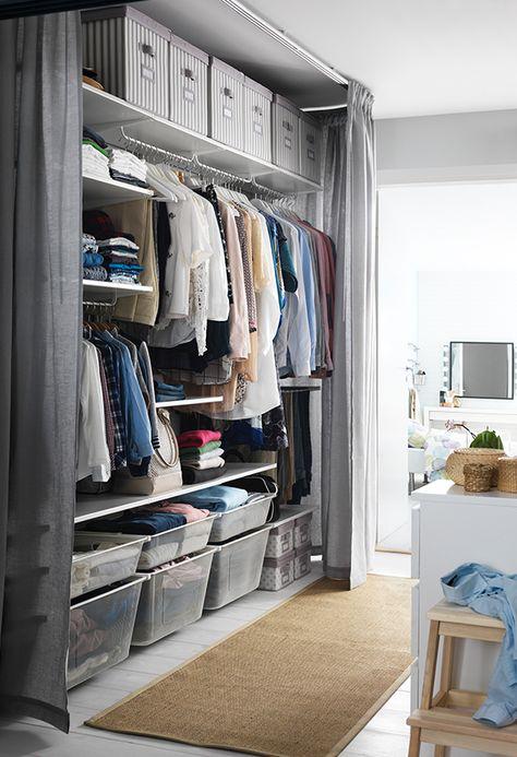 Bedroom Wardrobe Curtain Closet Organization 21 Ideas Ikea