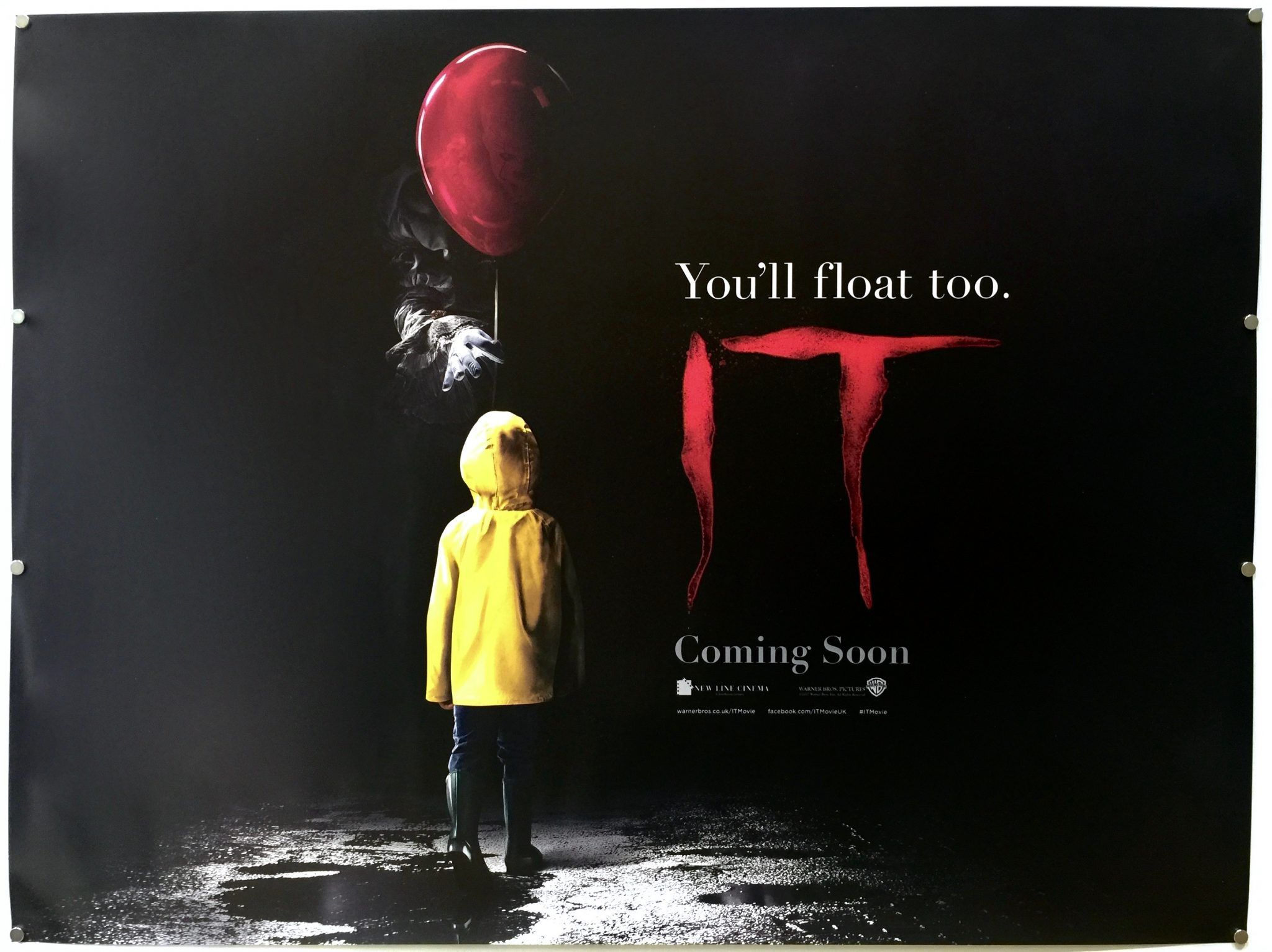 2017 Movie Posters: IT 2017 UK #movie #poster. Andrés Muschietti #horror #film