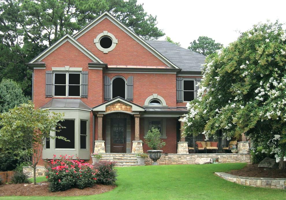 Image Result For Sage Green Shutters And Door On Red Brick Home Red Brick House Exterior Red Brick House Shutters Exterior