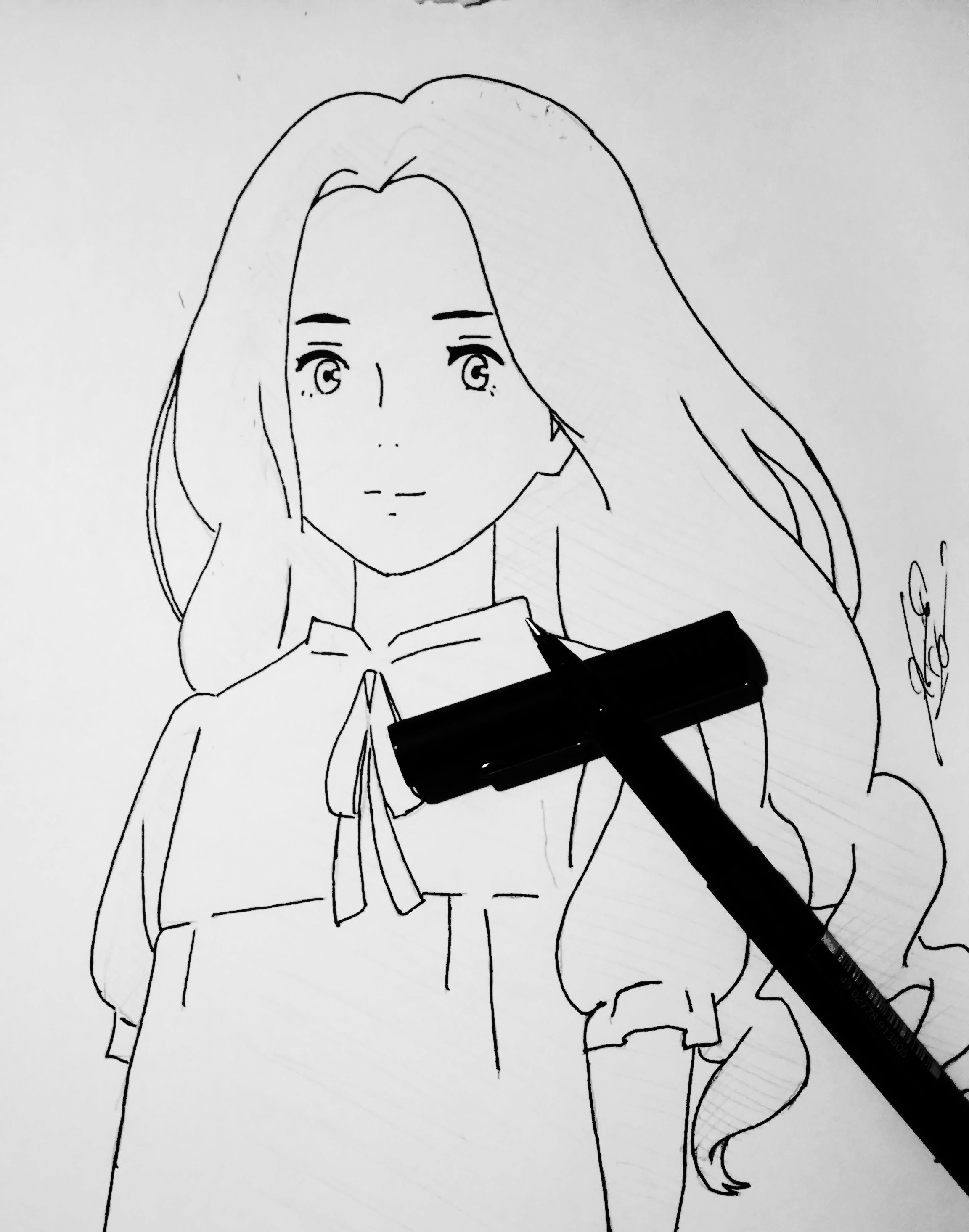 Anime free-hand copy from when marnie was there
