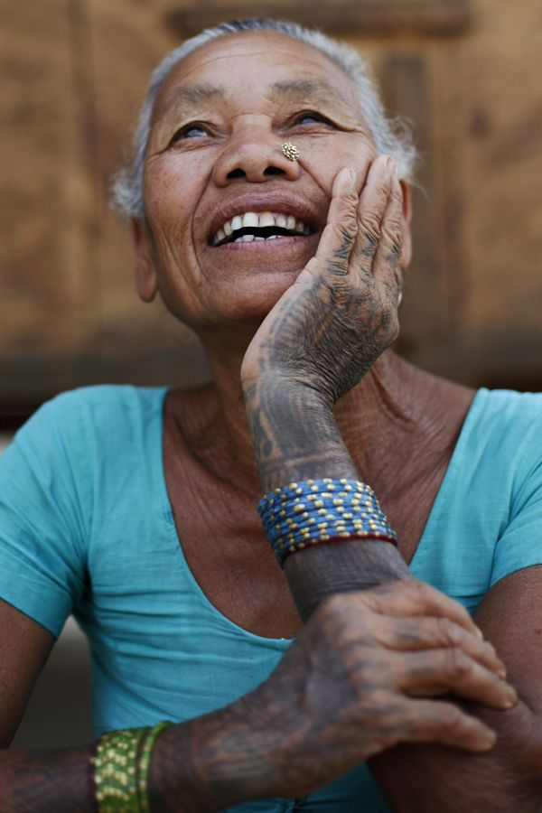 a5f06fc05 Disappearing tattoo culture among Tharu Women. by Queen Enigma, via Behance