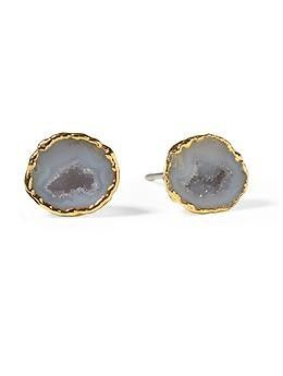 Heather Hawkins Drusy Geode Studs | Piperlime