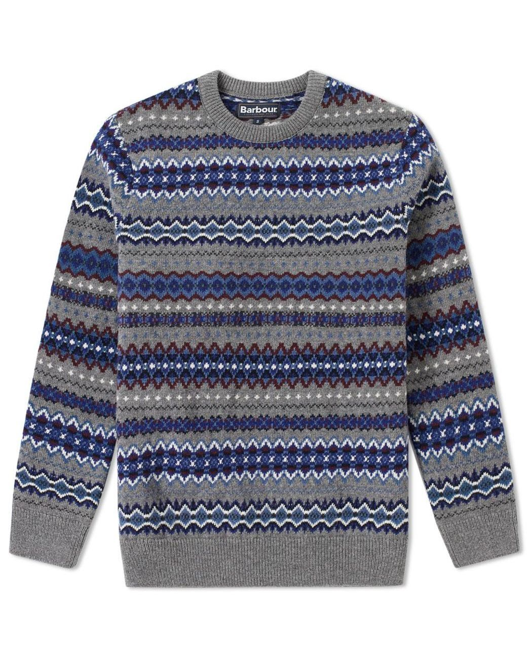 999b534e8258 Men's Gray Case Fair Isle Crew Knit | Varma tröjor | Barbour ...