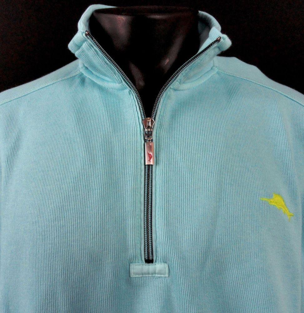 Tommy Bahama Antigua Cove Half-zip Sweatshirt XL Skylight | Cove ...