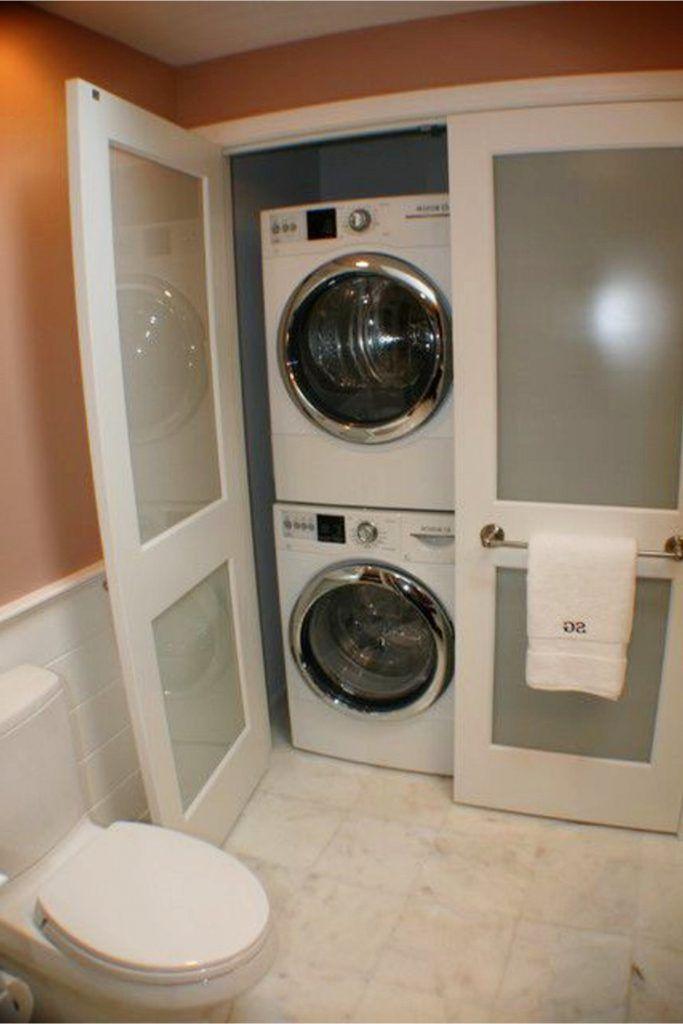 Laundry Nook Ideas We LOVE #bathroomlaundry