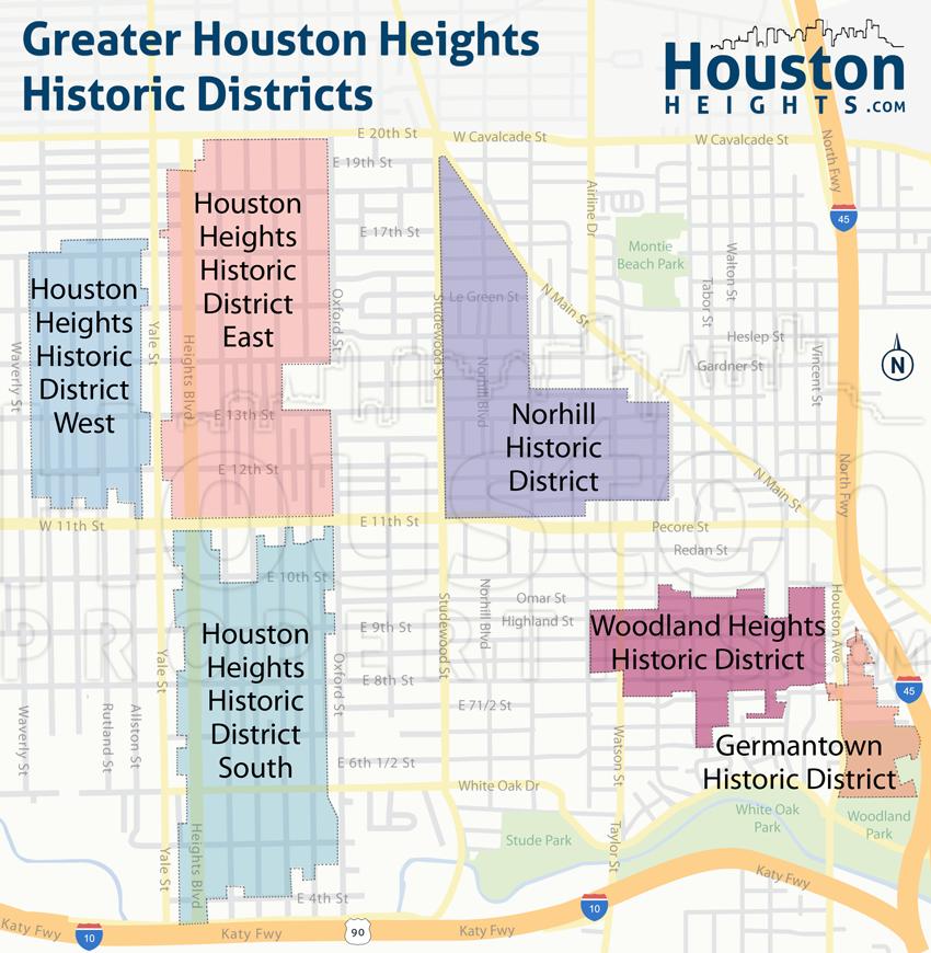 Houston Heights neighborhood facts Maps Community information