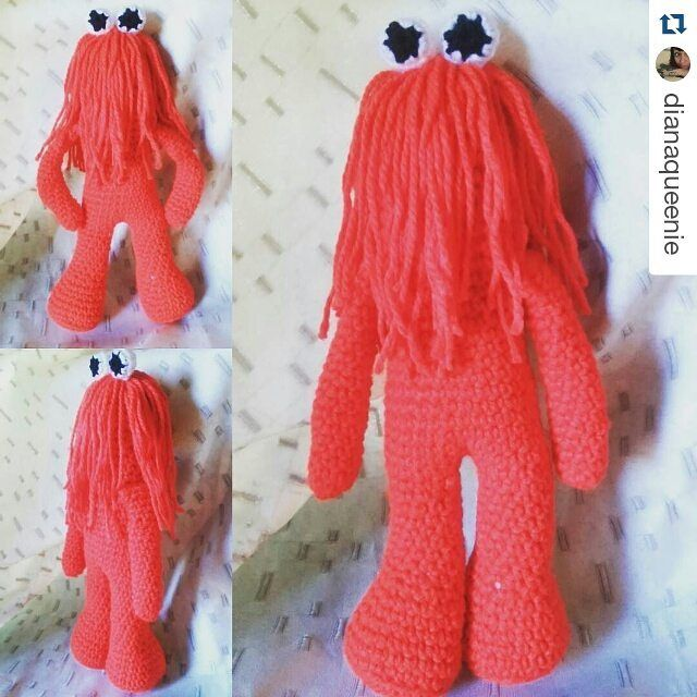 Harry Red Guy From Dont Hug Me Im Scared Crochet Amigurumi
