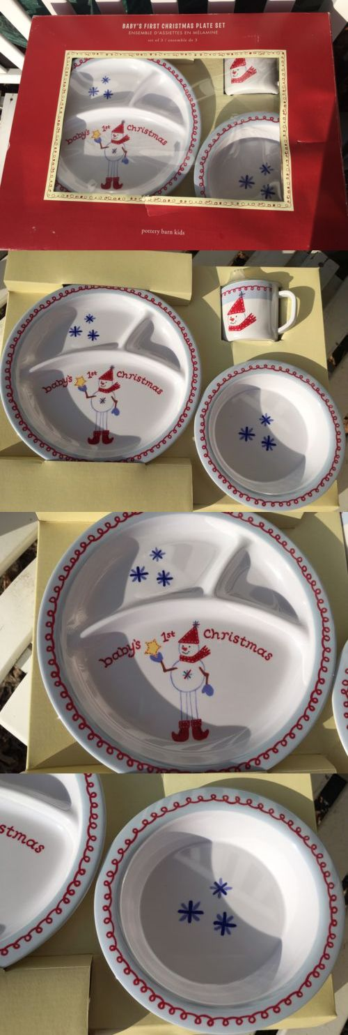 Feeding Sets 117386 New In Open Box Pottery Barn Kids Baby S First Christmas Plastic & Feeding Sets 117386: New In Open Box Pottery Barn Kids Baby S First ...