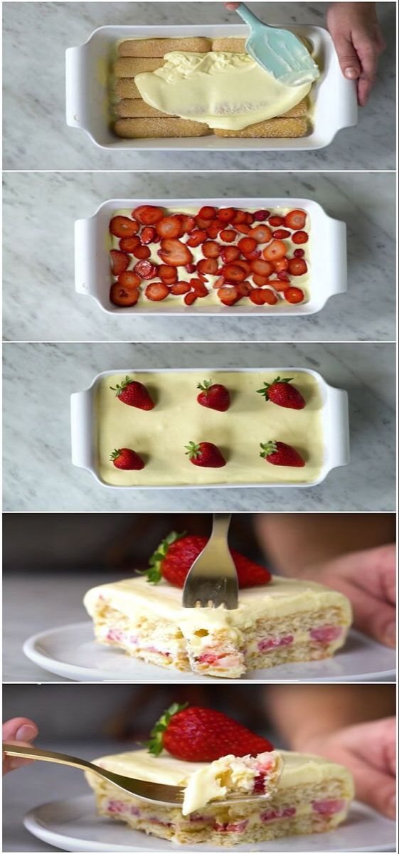 Torta de morango maravilhosa que não vai ao forno »