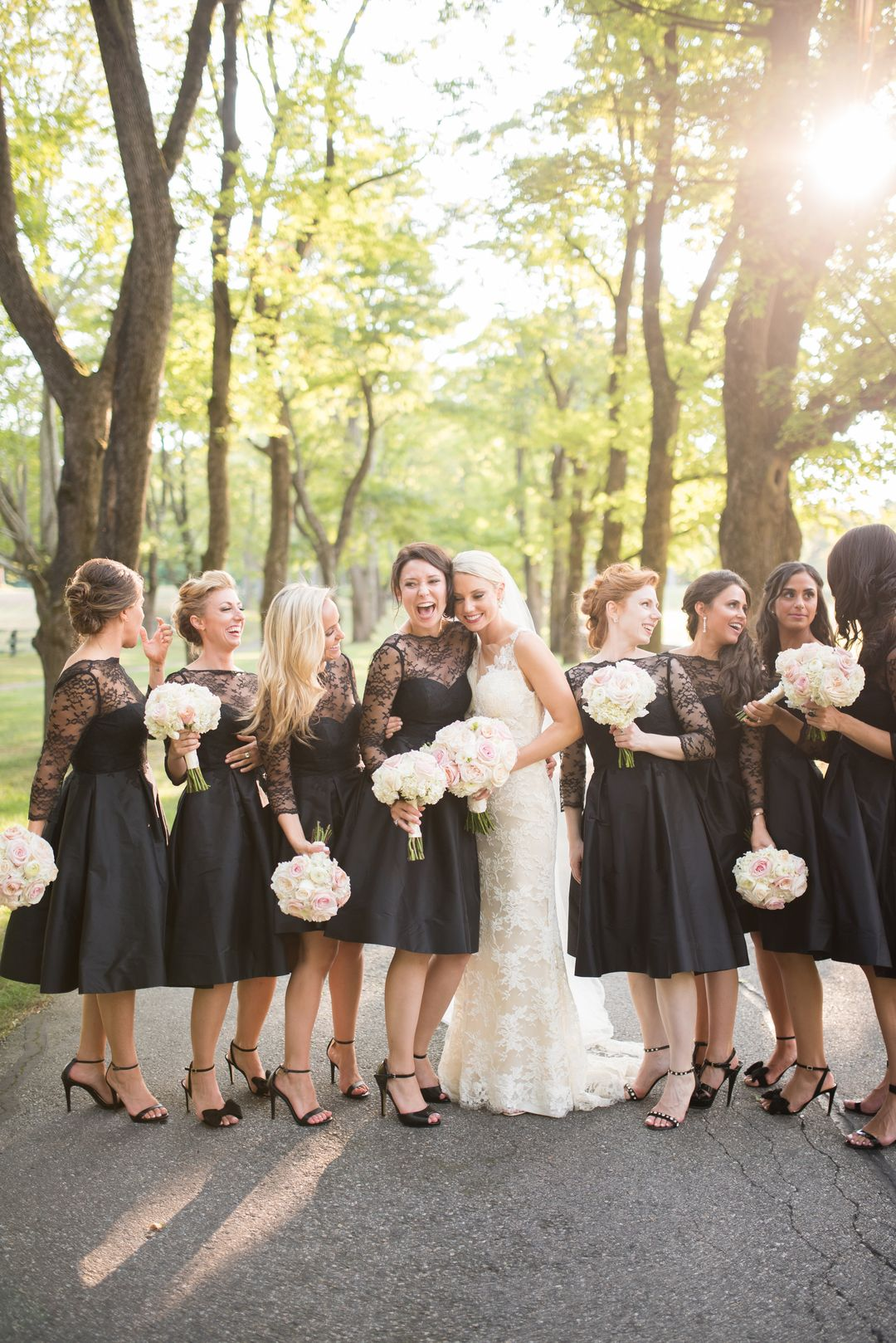 93a12570577 Classic Black-Tie Summer Wedding at Lanam Club