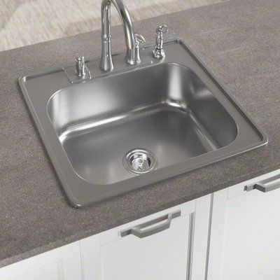 Mr Direct Stainless Steel 25 X 22 Drop In Kitchen Sink With