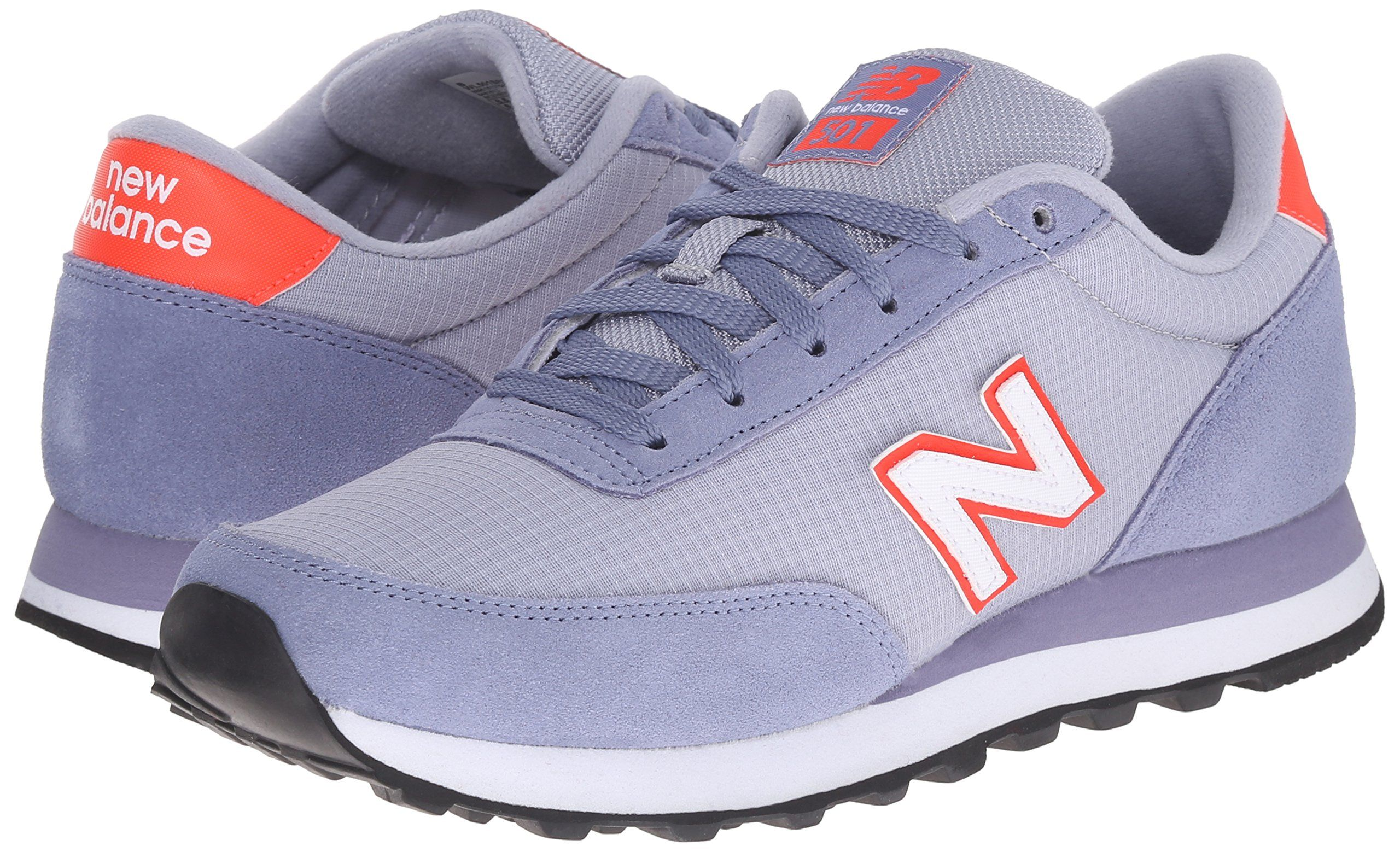 New Balance Women's WL501 Suede Ripstop Pack Classic Running Shoe, Lavender/Red, 7 B US