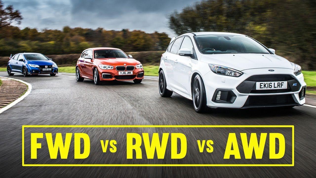 Awd Vs Fwd Vs Rwd Focus Rs Civic Type R M140i Track Battle Car Throttle Fwd Car Throttle Awd
