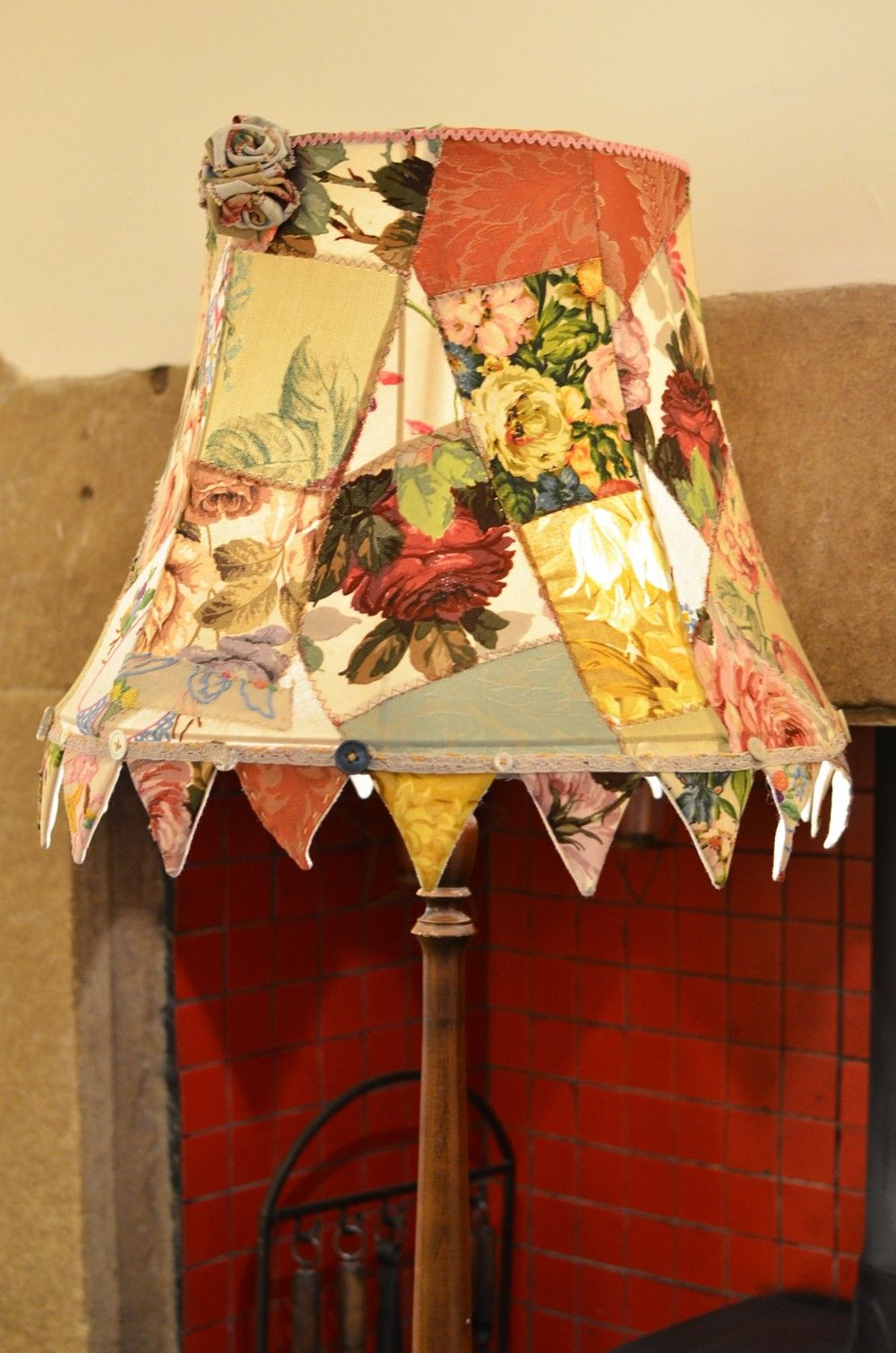 Patchwork Bunting Lampshade Radiance Vintage Lampshades Upcycle Decor Diy Lamp Shade