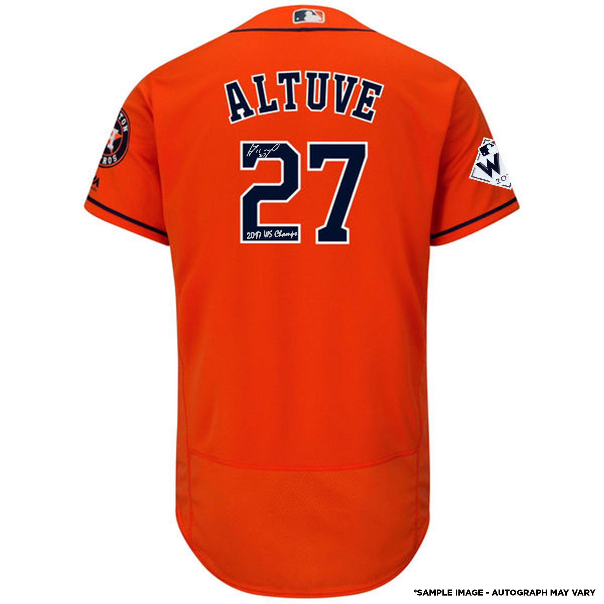 Houston Astros Jose Altuve Fanatics Authentic 2017 MLB World Series  Champions Autographed Majestic World Series Orange Authentic Jersey with  2017 WS Champs ... bc5053bee