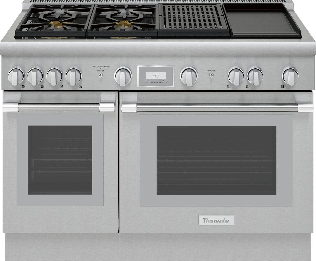 Thermador Pro Harmony Prd484wchu In 2020 Freestanding Double Oven Gas Oven 48 Inch Range
