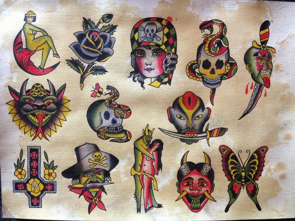 Bert Grimm Flash Vintage Tattoo Design Bert Grimm Halloween