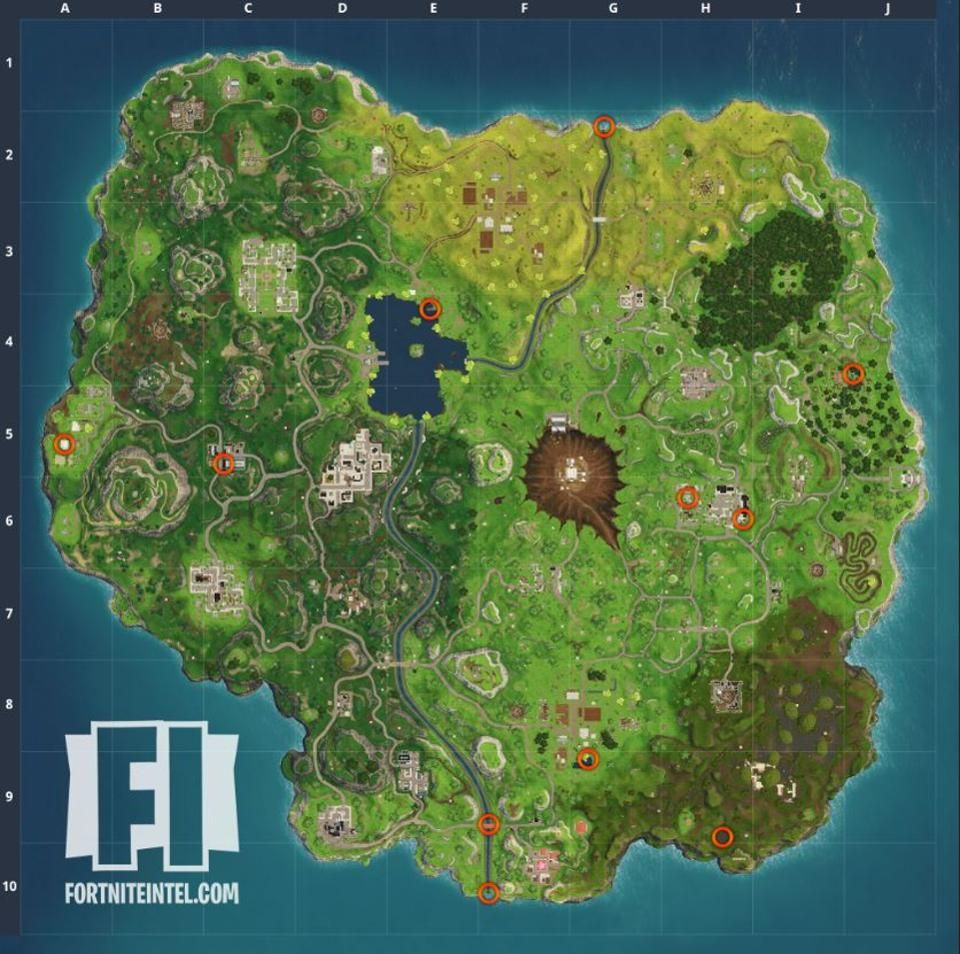 Where To Search 10 Rubber Duckies In Fortnite Battle Royale Fortnite Map Seasons
