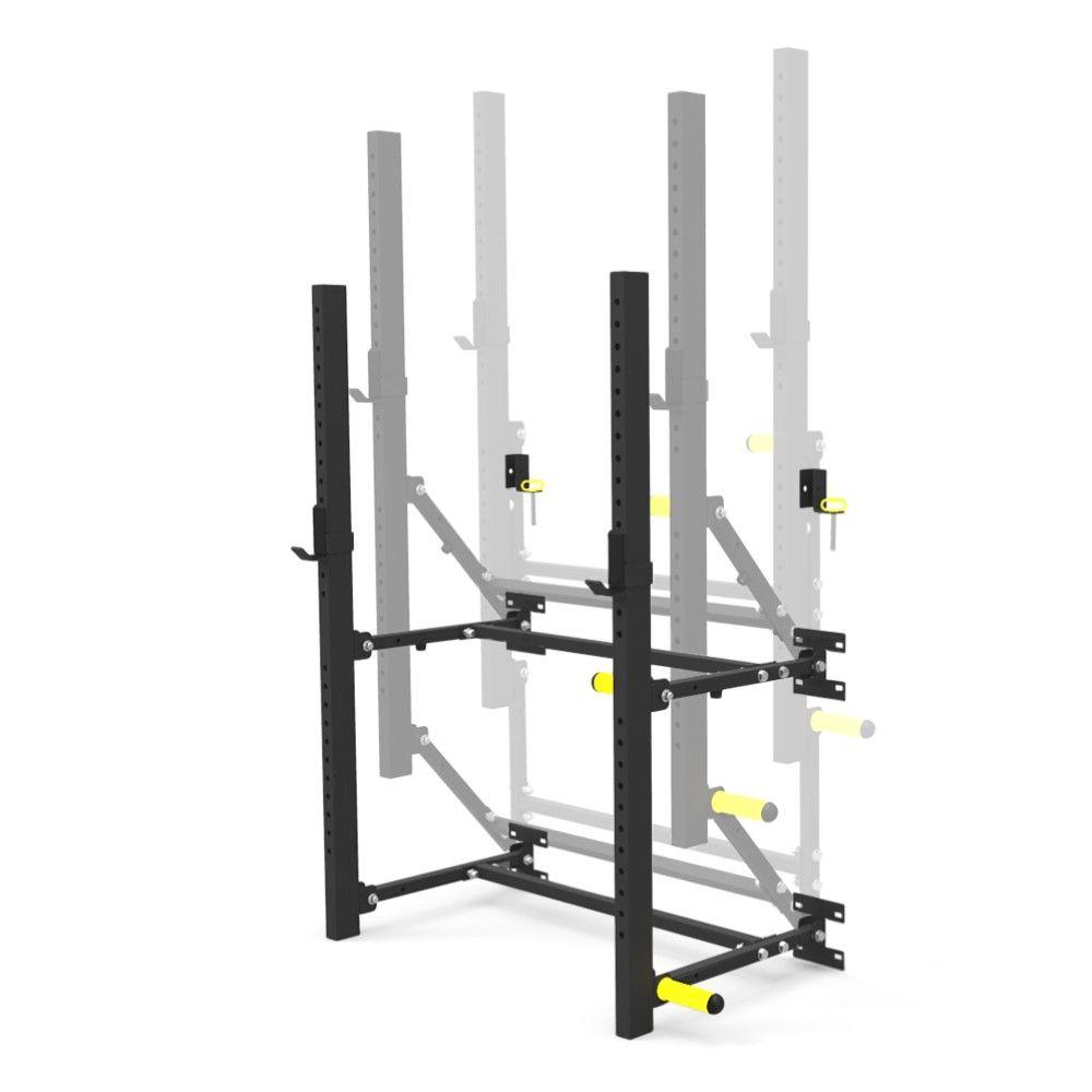 Again faster wallmounted folding power racks home made