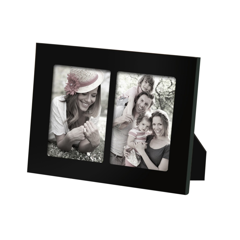 Furnistar Decorative Black Wood Divided Picture Photo Frame (2 ...