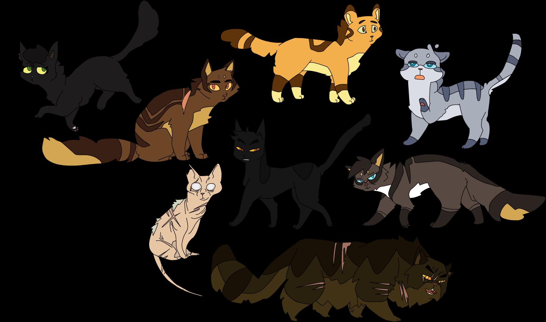 Картинки с котами воителями для срисовки грозовое племя