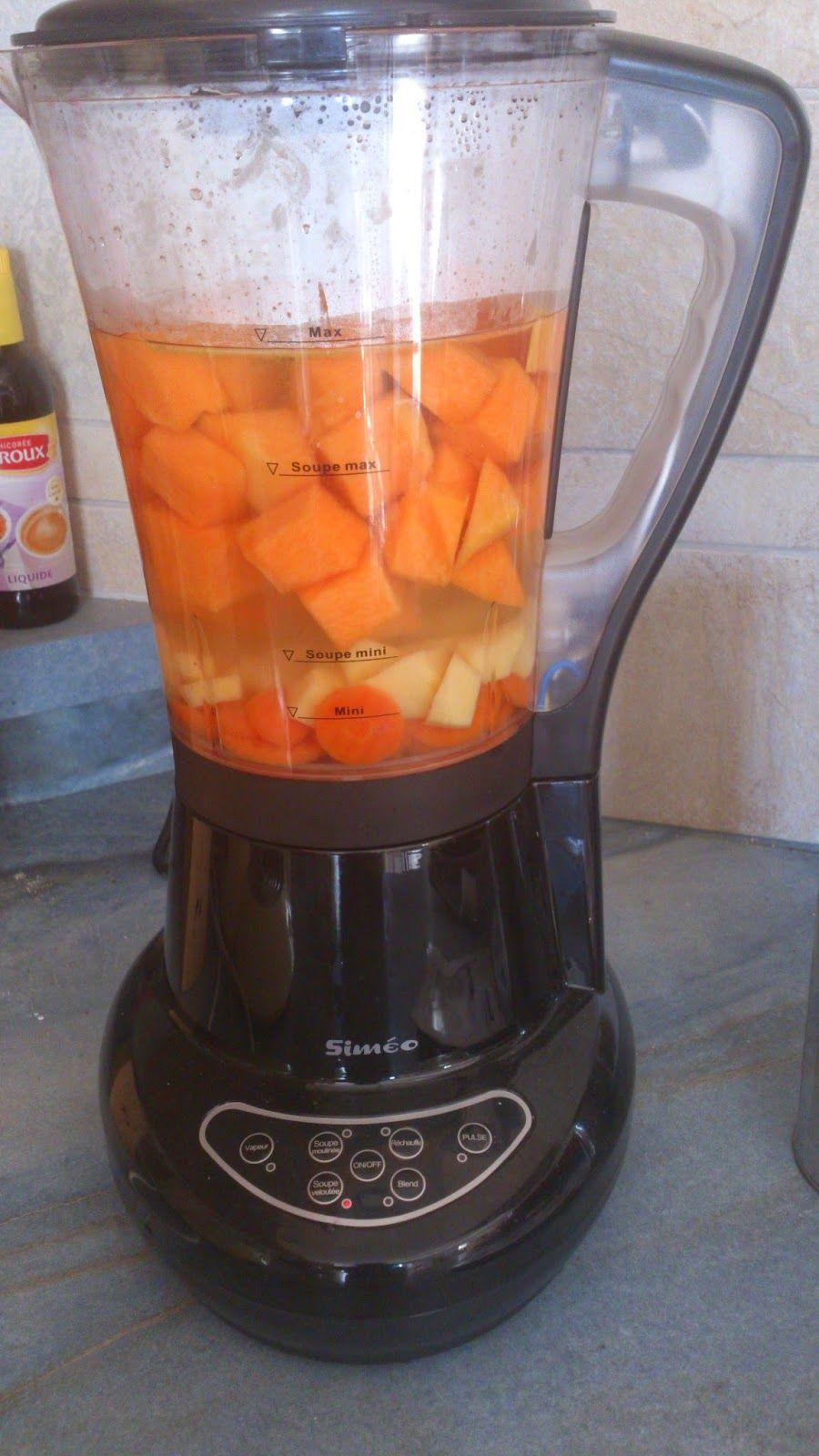 Recette Soupe Blender Chauffant : recette, soupe, blender, chauffant, La-ptite-cuisine-de-Lily:, Véloutés, Légumes, Blender, Chauffant, Simeo., Recettes, Blender,, Chauffant,