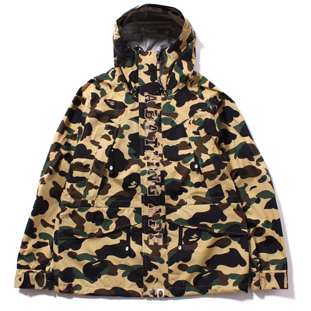 94c74f84c5ec7 Bape, GORE-TEX 1ST CAMO SNOW BOARD JACKET (Yellow)   Streetwear and ...
