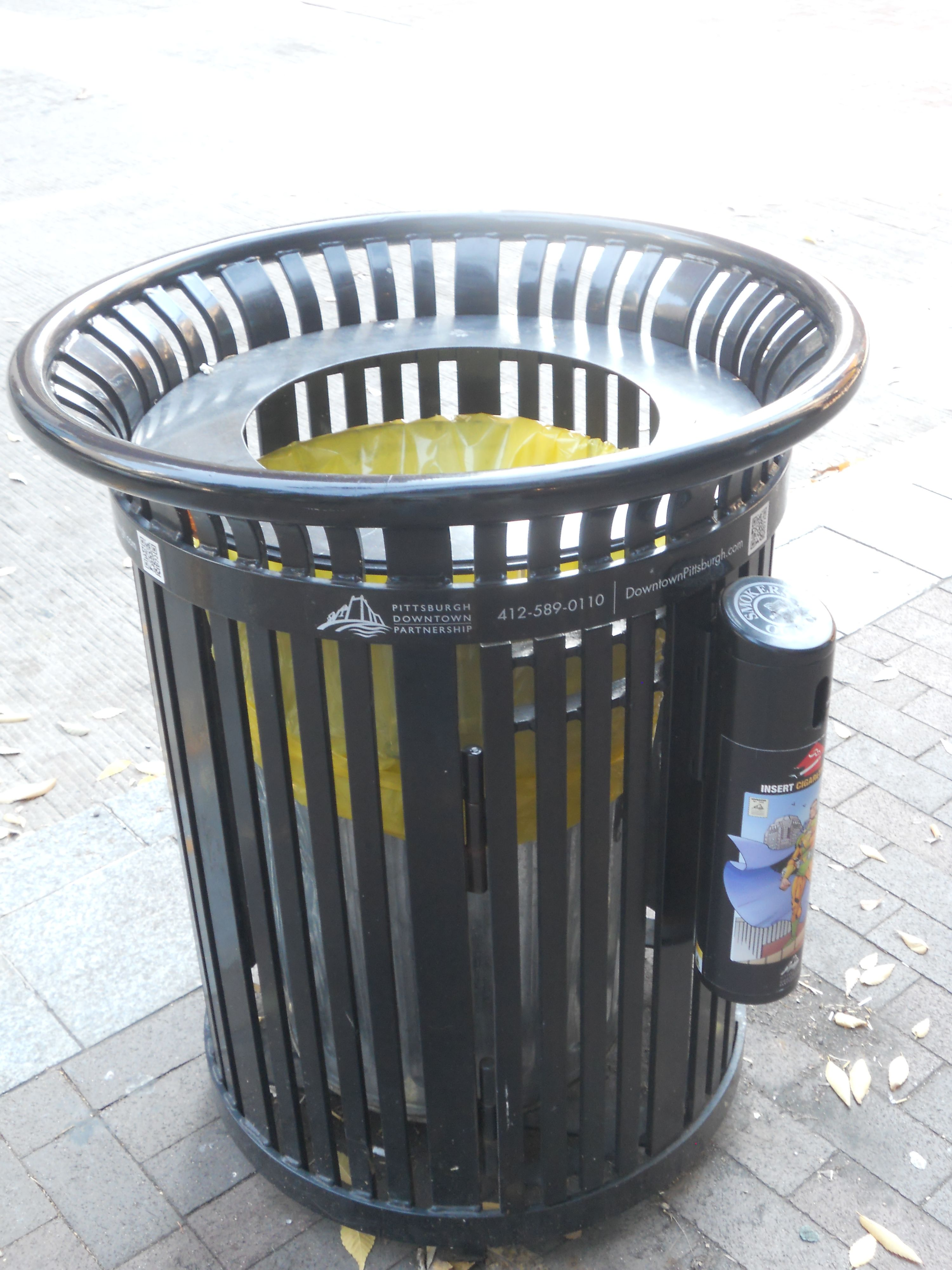 Good Public Trash Cans In Pittsburgh Bins Street