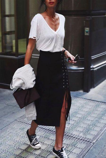С чем носить юбку-карандаш 17 эффектных образов изоражения