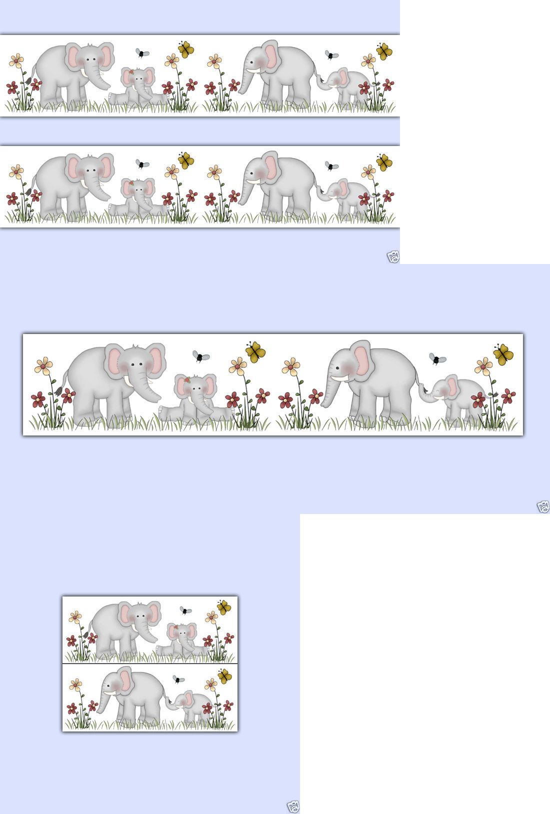 Wallpaper Borders 37636 Elephant Wallpaper Border Wall Decals Baby Jungle Safari Nursery Elephant Wallpaper Elephant Nursery Wallpaper Safari Nursery Stickers