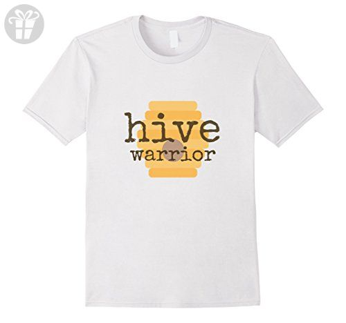 Mens Hive Warrior (TM) Funny Beekeeper Bee Lover Tshirt 3XL White - Funny shirts (*Amazon Partner-Link)