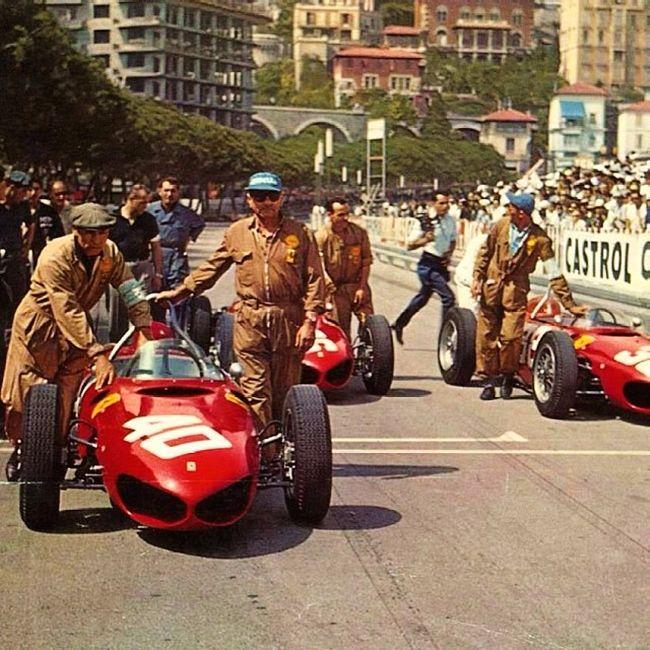 1961 Monaco Grand Prix Xix Grand Prix De Monaco Circuit De Monaco Monte Carlo Monaco 1961 Ferrari 156 F Voiture De Course Grand Prix De Monaco Formule 1