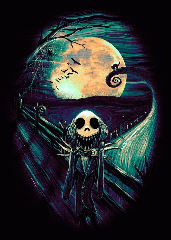 The Scream Before Christmas Poster Art Print By Nicebleed Art Displate Arte De Tim Burton Mundo De Jack Pesadilla Antes De Navidad