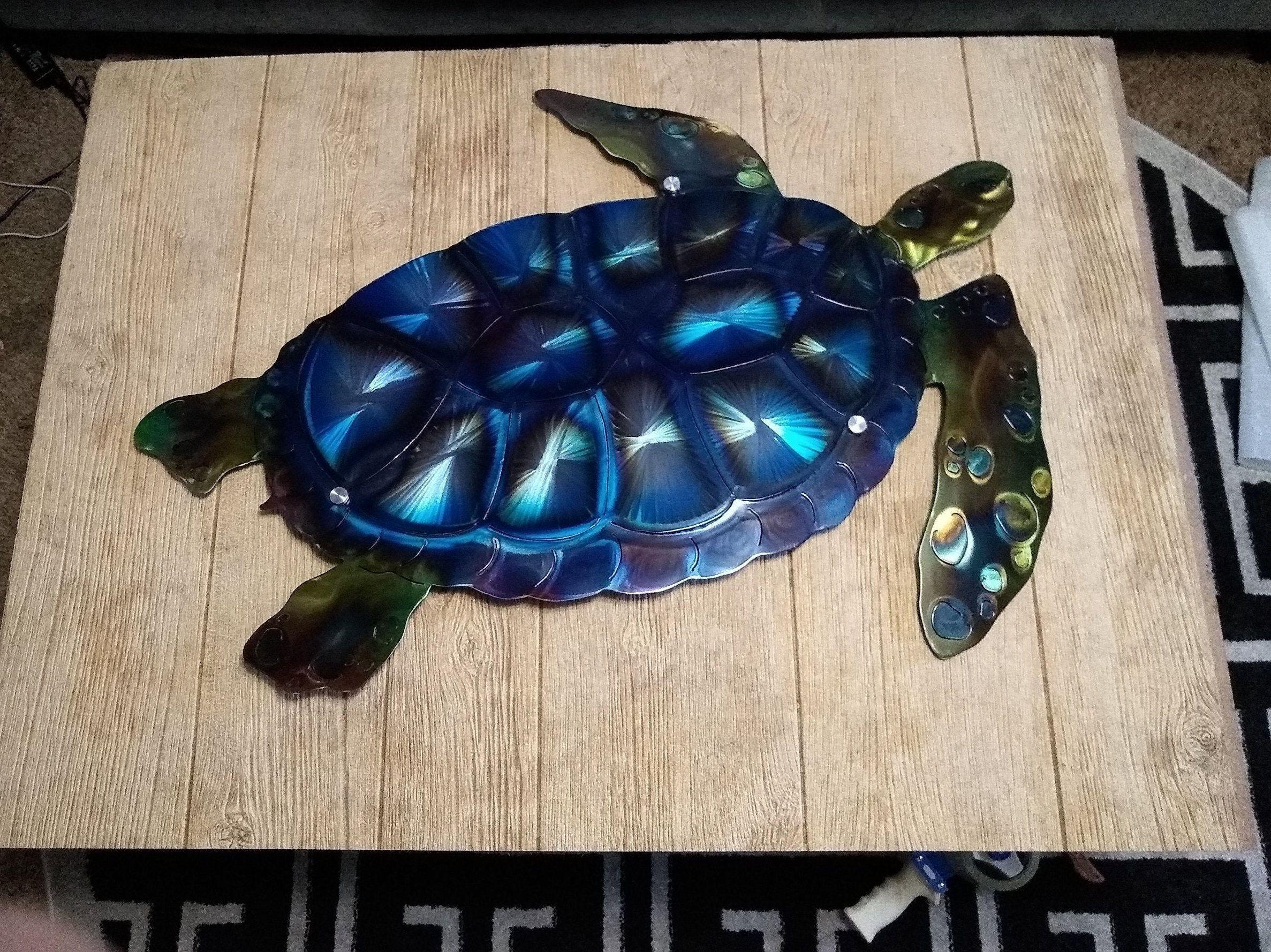 Metal Wall Art Sea Turtle Large
