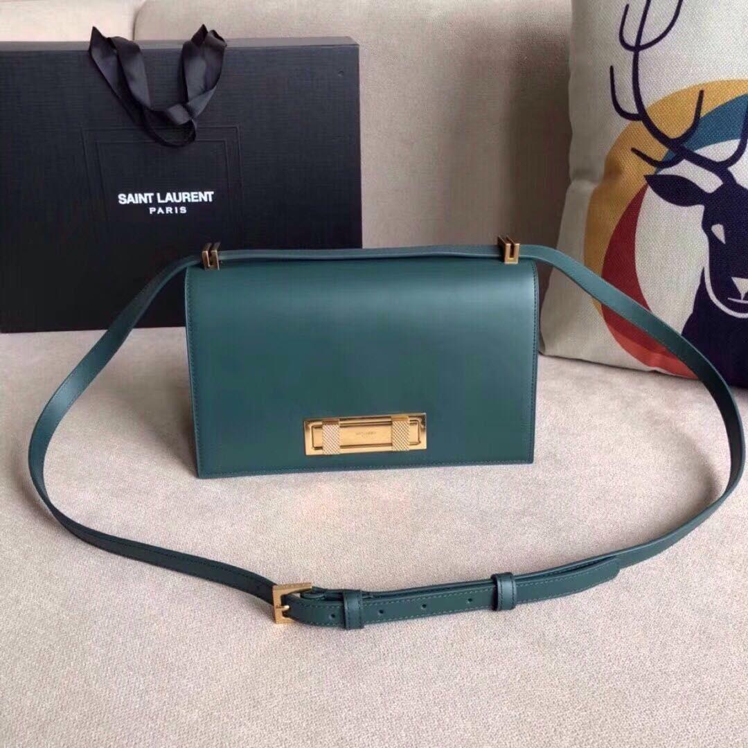 e0996f83065 YSL Saint Laurent Domino green bag NEW